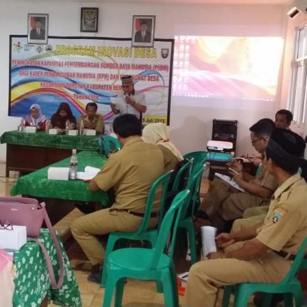 Pelatihan peningkatan Kapasitas PSDM Bagi KPM & Perangkat Desa
